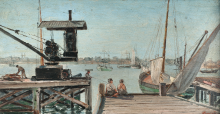 'Antiguo puerto de Montevideo' de Domingo Laporte